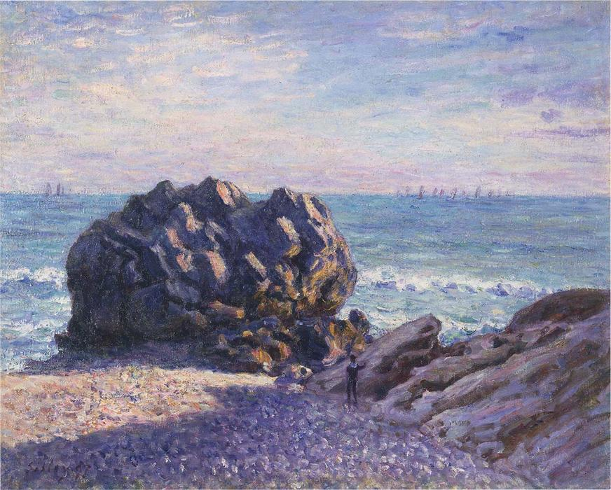 famous painting Storr's Rock in Lady's Cove - Evening of Alfred Sisley