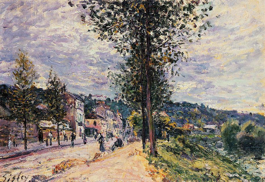 famous painting Street Entering the Village of Alfred Sisley