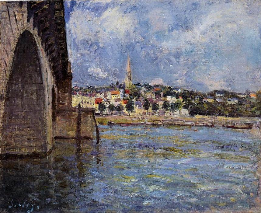 famous painting The Bridge at Saint Cloud of Alfred Sisley