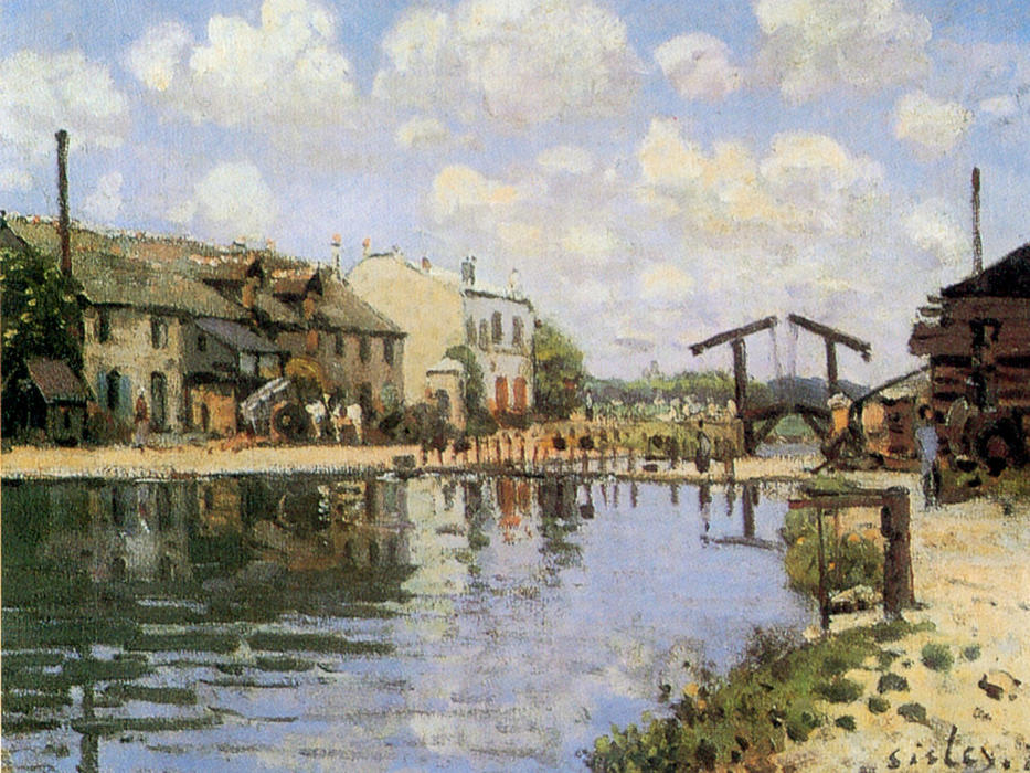 famous painting The Canal Saint Martin of Alfred Sisley
