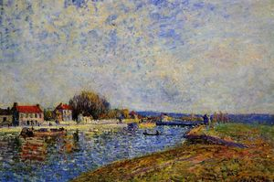 Alfred Sisley - The Dam, Loing Canal at Saint Mammes