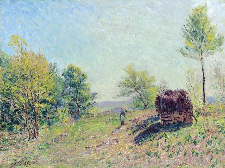 famous painting The Edge of the Forest of Alfred Sisley