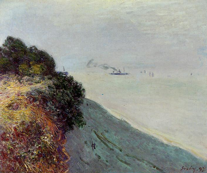 famous painting The English Coast, Penarth of Alfred Sisley