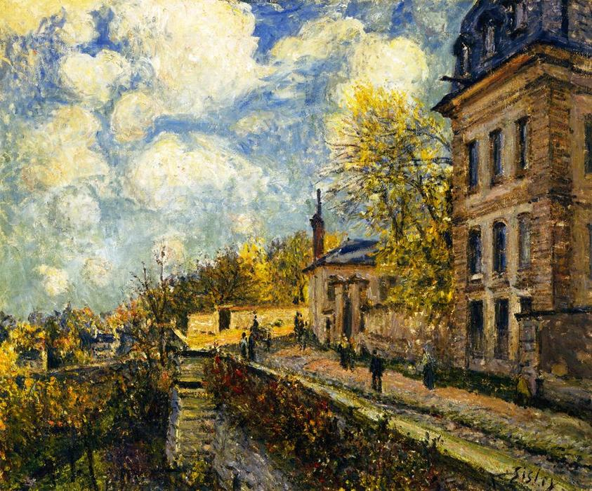 famous painting The Factory at Sevres of Alfred Sisley