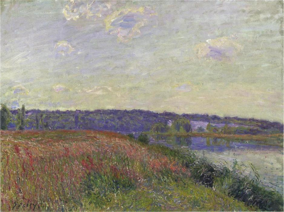famous painting The Fields and Hills of Veneux Nadon of Alfred Sisley