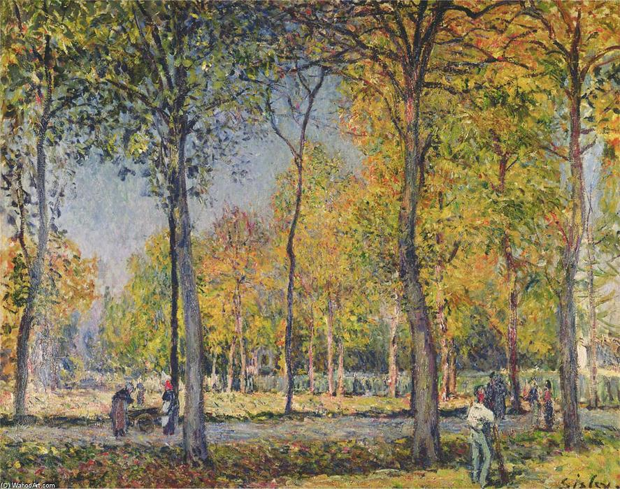 famous painting The Forest at Boulogne of Alfred Sisley