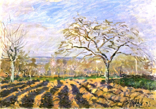 famous painting The Furrows of Alfred Sisley