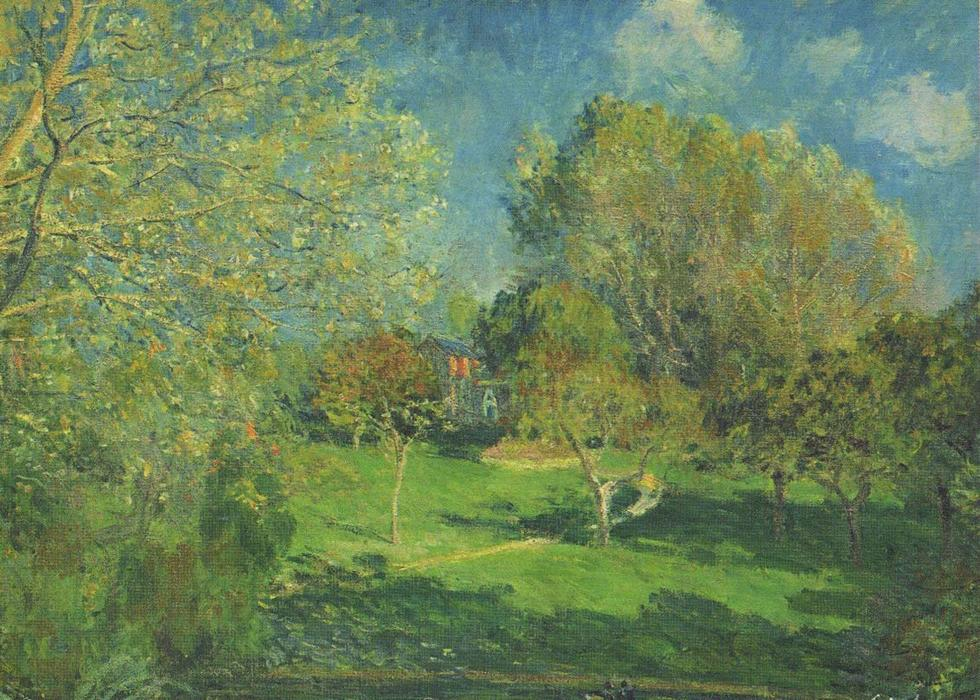 famous painting The Garden of Hoschede, Montgeron of Alfred Sisley