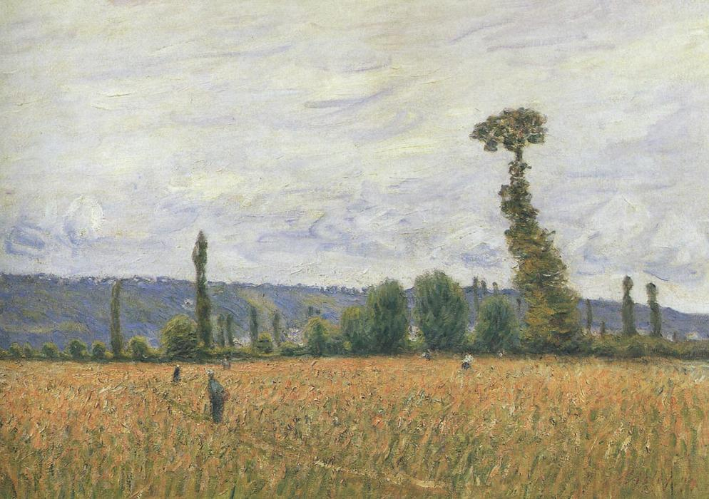 famous painting The Hills of La Bouille of Alfred Sisley