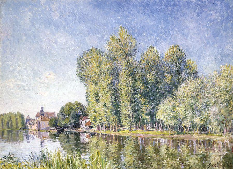 famous painting The Loing at Moret 1 of Alfred Sisley