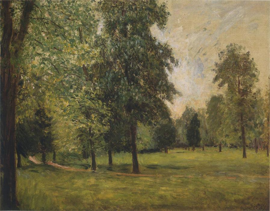 famous painting The Park at Sevres of Alfred Sisley