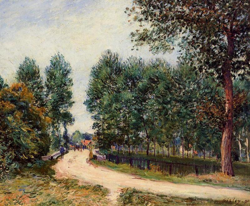 famous painting The Path from Saint Mammes, Morning of Alfred Sisley