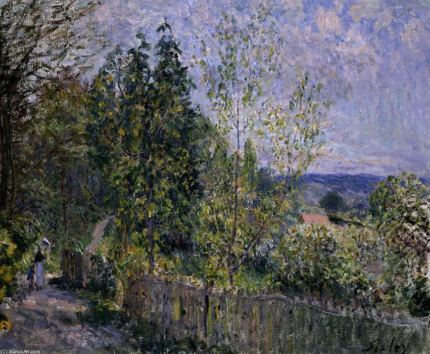 famous painting The Road in the Woods of Alfred Sisley