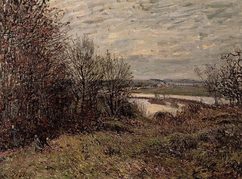 famous painting The Roches Courtaut Wood, near By of Alfred Sisley