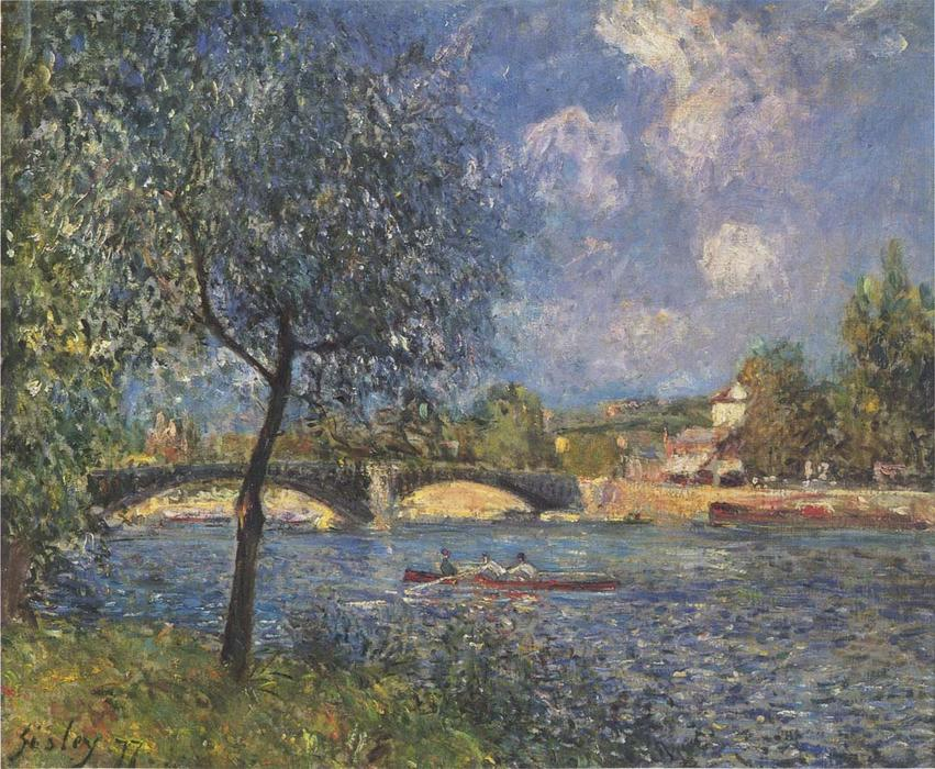 famous painting The Rowers of Alfred Sisley
