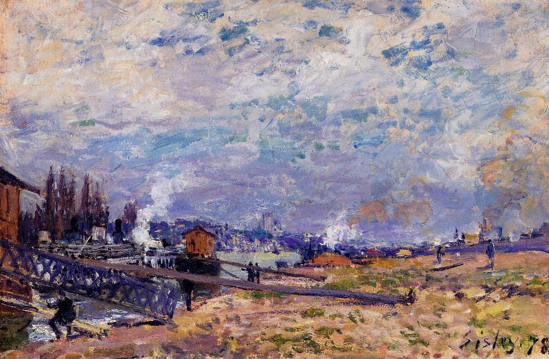 famous painting The Seine at Grenelle of Alfred Sisley