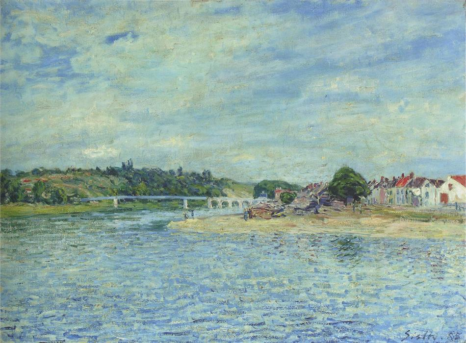 famous painting The Seine at Saint Mammes of Alfred Sisley