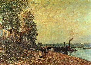 Alfred Sisley - The Tugboat