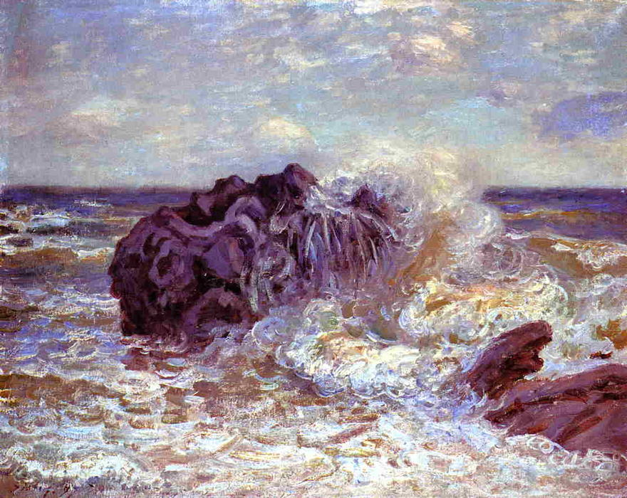 famous painting The Wave, Lady's Cove, Langland Bay of Alfred Sisley