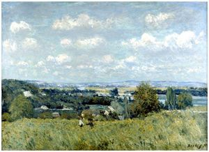 Alfred Sisley - Valley of the Seine at Saint Cloud