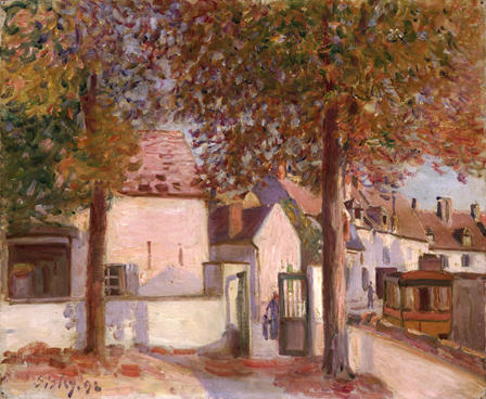 famous painting View in Moret (Rue de Fosses) of Alfred Sisley