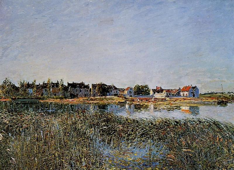 famous painting View of Saint Mammes of Alfred Sisley