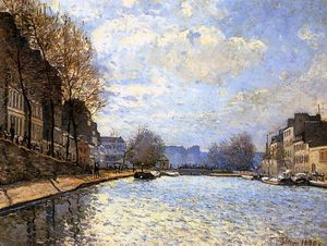 Alfred Sisley - View of the Canal St. Martin