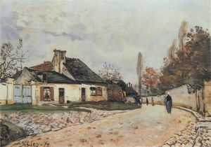 Alfred Sisley - Voisins Street in Louveciennes