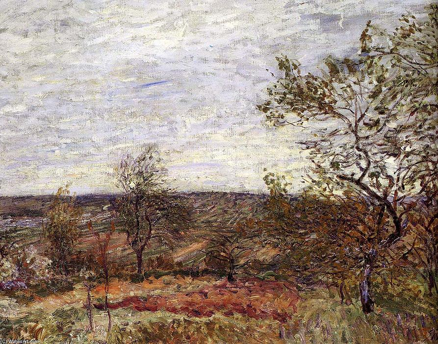 famous painting Windy Day At Veneux of Alfred Sisley