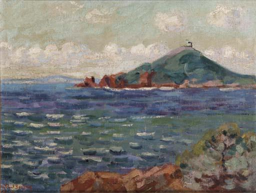 famous painting A Mediterranean Bay of Jean Baptiste Armand Guillaumin