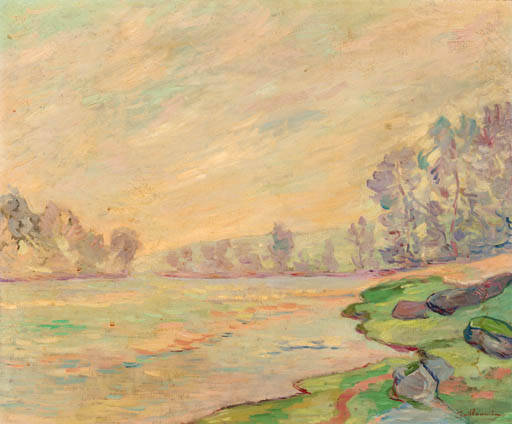 famous painting A tranquil river landscape of Jean Baptiste Armand Guillaumin