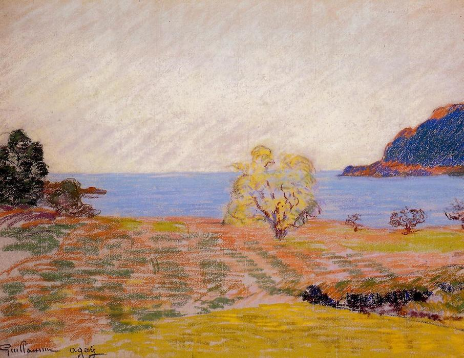 famous painting Agay Landscape of Jean Baptiste Armand Guillaumin