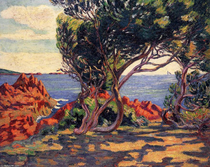 famous painting Agay, at Cap Long of Jean Baptiste Armand Guillaumin