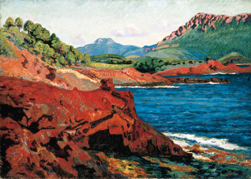 famous painting Agay, la pointe du Dramont Saint-Martin of Jean Baptiste Armand Guillaumin