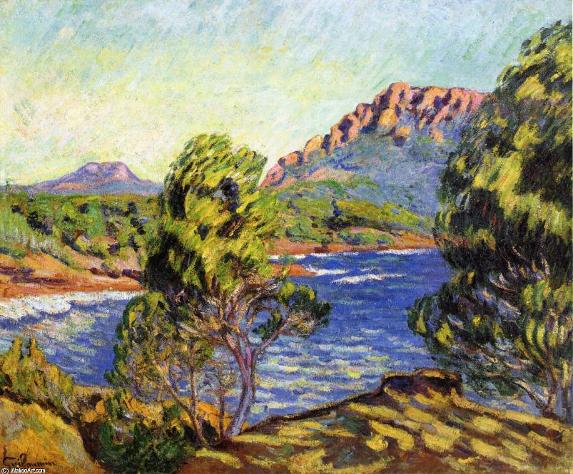 famous painting Agay, the Bay during the Mistral of Jean Baptiste Armand Guillaumin