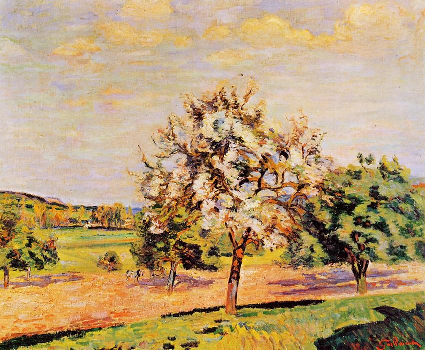 famous painting Apple Trees in Bloom of Jean Baptiste Armand Guillaumin