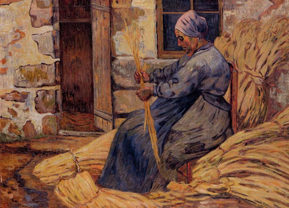 famous painting Basket Maker, Damiette of Jean Baptiste Armand Guillaumin