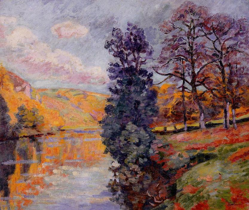 famous painting Crozant - Echo Rock of Jean Baptiste Armand Guillaumin