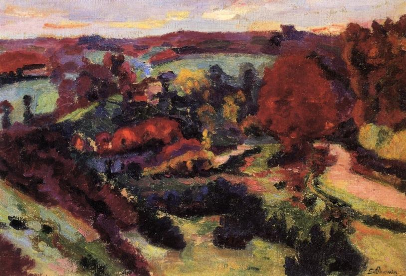 famous painting Crozant in Autumn of Jean Baptiste Armand Guillaumin