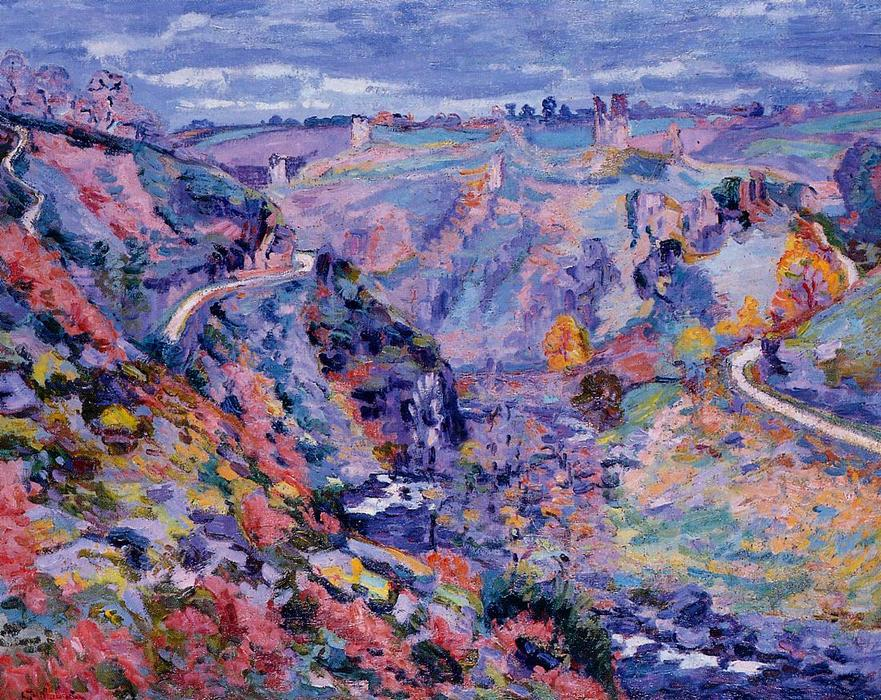 famous painting Crozant Landscape of Jean Baptiste Armand Guillaumin
