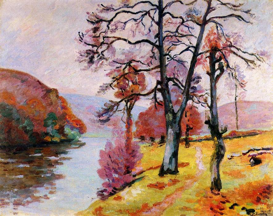 famous painting Crozant, Echo Rock, Winter of Jean Baptiste Armand Guillaumin