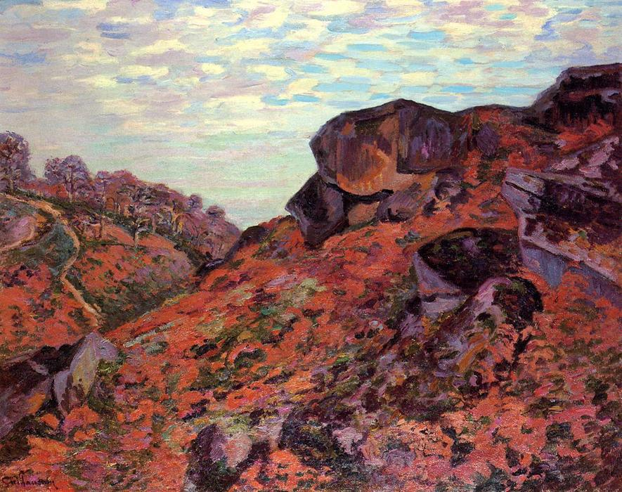 famous painting Crozant, the Sedelle Heights, Morning of Jean Baptiste Armand Guillaumin