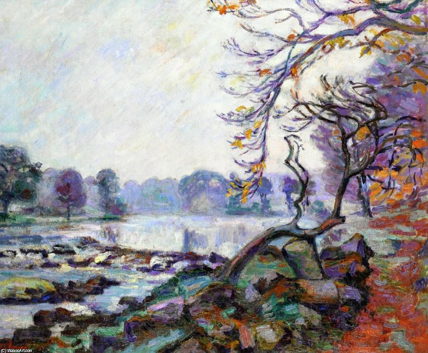 famous painting Dam at Genetin, Crozant of Jean Baptiste Armand Guillaumin