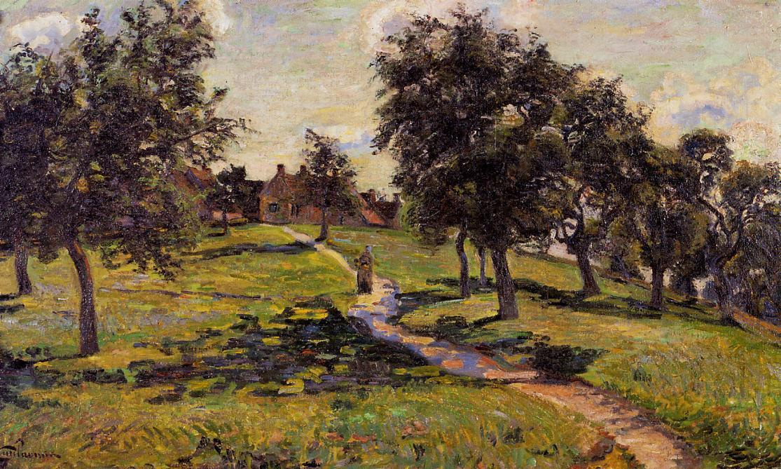 famous painting Damiette - Apple Trees of Jean Baptiste Armand Guillaumin