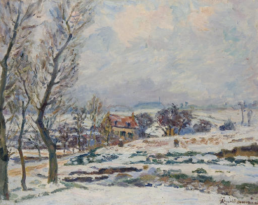 famous painting L'hiver à Crozant of Jean Baptiste Armand Guillaumin
