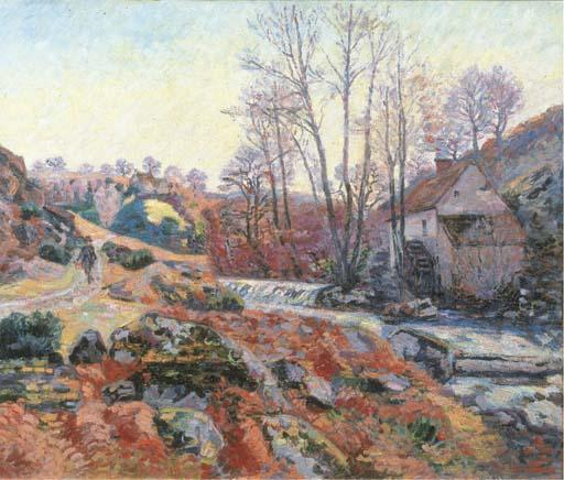 famous painting La Moulin Bouchardon à Crozant of Jean Baptiste Armand Guillaumin