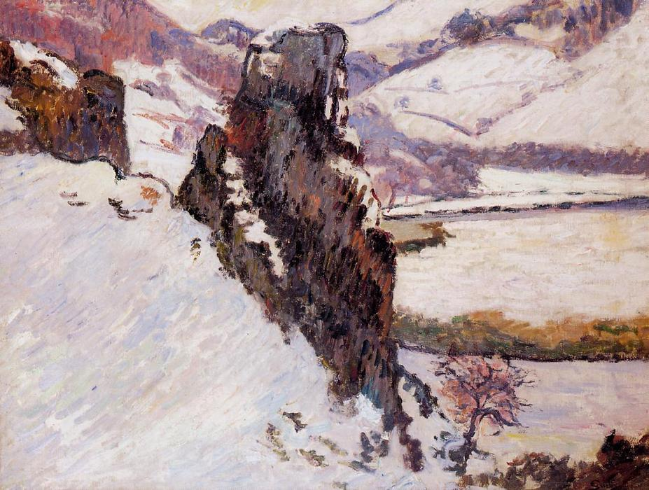 famous painting Landscape - the Creuse in the Snow of Jean Baptiste Armand Guillaumin
