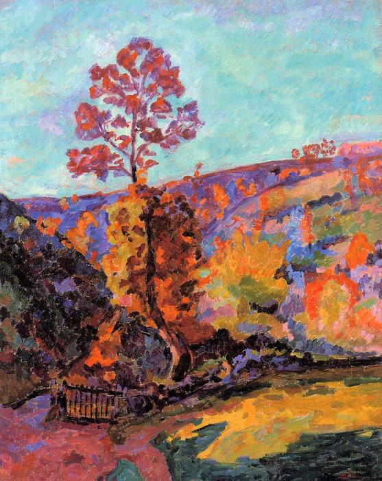 famous painting Landscape at Crozant of Jean Baptiste Armand Guillaumin