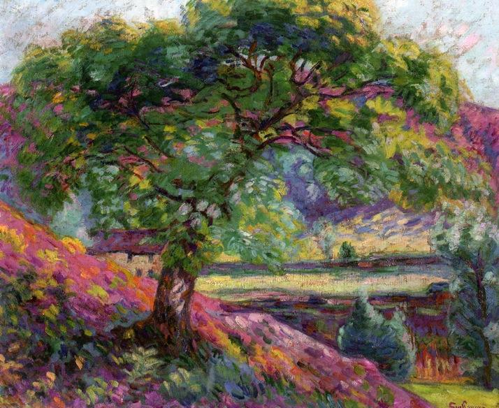 famous painting Landscape with Trees and Figures of Jean Baptiste Armand Guillaumin