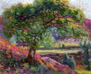 Jean Baptiste Armand Guillaumin - Landscape with Trees and Figures